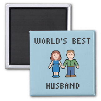 Pixel World's Best Husband Magnet