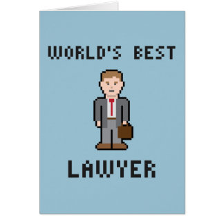 Pixel World's Best Lawyer Greeting Card