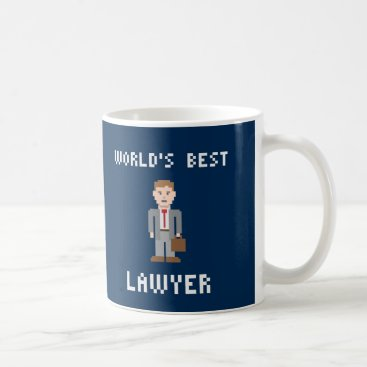 Pixel World's Best Lawyer Mug