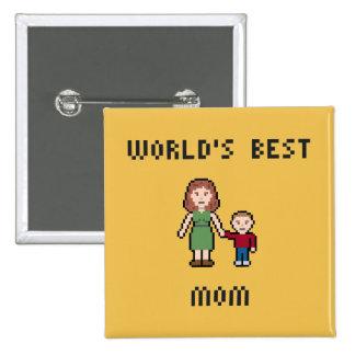 Pixel World's Best Mom Button
