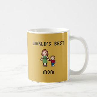 Pixel World's Best Mom Mug
