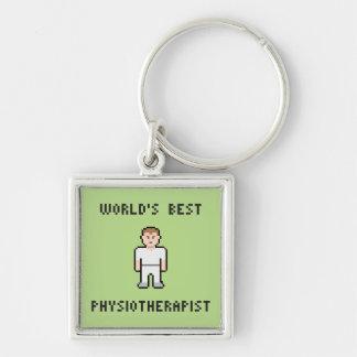 Pixel World's Best Physiotherapist Keychain