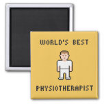 Pixel World's Best Physiotherapist Magnet 2 Inch Square Magnet