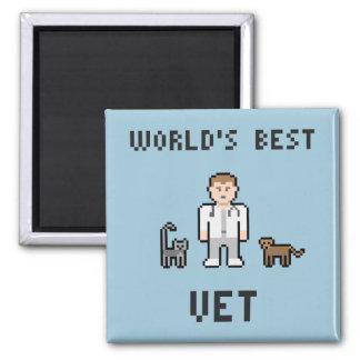 Pixel World's Best Vet Magnet