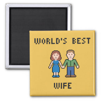 Pixel World's Best Wife Magnet