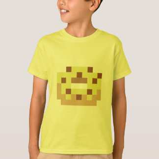 Pixel yellow frosted donut T-Shirt
