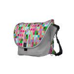 Pixelate Gray Messenger Bag