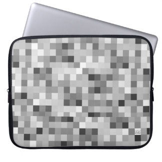 Pixelate Illusion Gray 15 Inch Laptop Sleeve