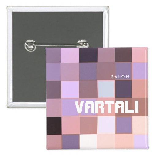 Pixelate Purple Pattern Vartali Square Button