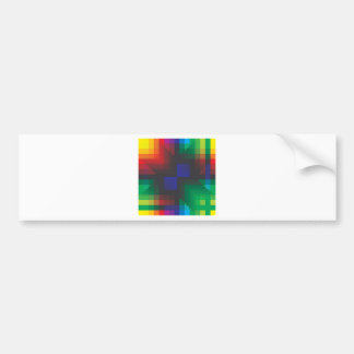 Pixelated Abstract of Coachella Love Bumper Sticker