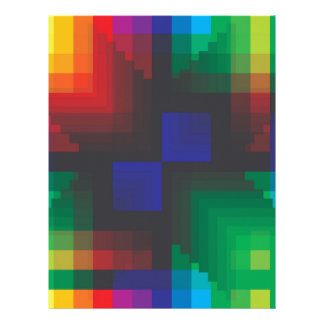 Pixelated Abstract of Coachella Love Letterhead