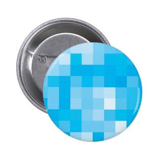 Pixelated Blue 2 Inch Round Button