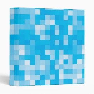 Pixelated Blue Vinyl Binders