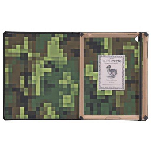 Pixelated Camouflage iPad case