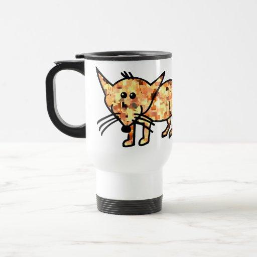 Pixelated Fox 15 Oz Stainless Steel Travel Mug