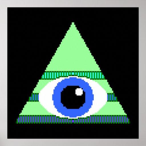 PIxelated Illuminati Poster | Zazzle