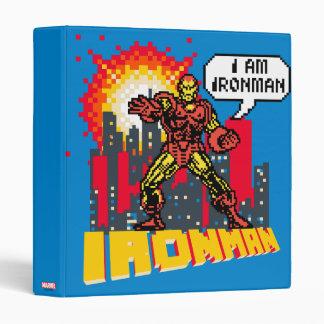 Pixelated Iron Man Binder