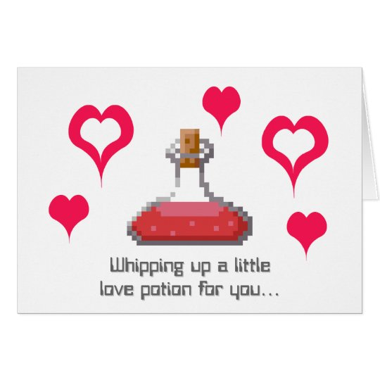 Pixelated Love Potion Card