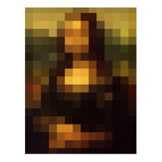 Pixelated Mona Lisa 3 Postal