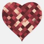 pixelated pegatina de corazón