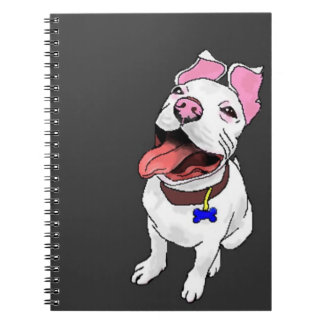 pixelated pit bull puppy spiral notebook