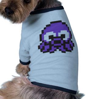 Pixelated Purple Octopus Dog T Shirt