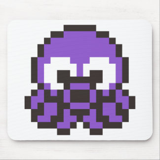 Pixelated Purple Octopus Mouse Pad
