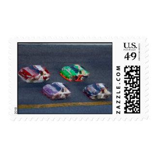 Pixelated Racing Postage
