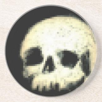 Pixelated Skull Sandstone Coaster
