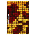 Pixelated Yellow, Red, Brown Dry-Erase Whiteboard