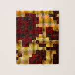 Pixelated Yellow, Red, Brown Puzzles