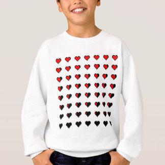 Pixeled Hearts Pattern Sweatshirt