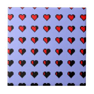 Pixeled Hearts Tile