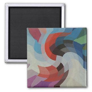 Pixeles abstractos imán cuadrado