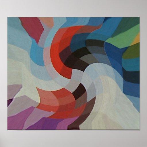 Pixeles abstractos póster
