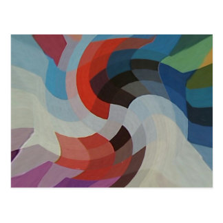 Pixeles abstractos tarjetas postales