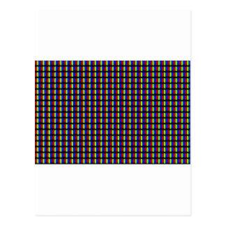 Pixeles blancos postal