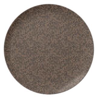 Pixeles de Brown Plato De Comida