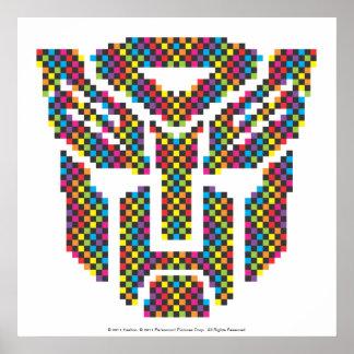 Pixeles del escudo de Autobot Posters