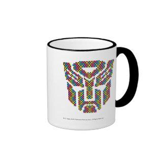 Pixeles del escudo de Autobot Taza De Dos Colores