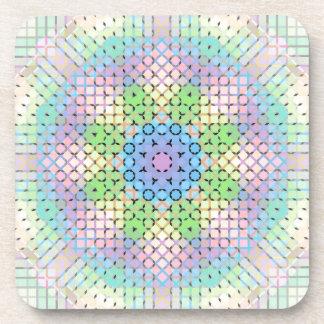 Pixeles en colores pastel posavasos de bebida