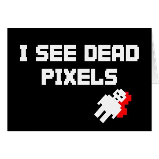 Pixeles muertos de Sarah Marshall Felicitacion
