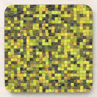 Pixeles verdes posavasos de bebida