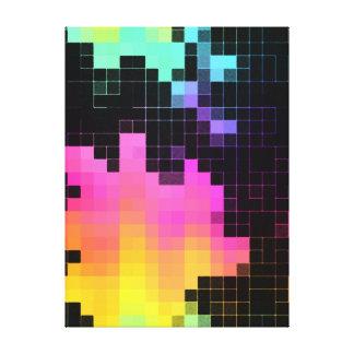Pixels Matrix Canvas Print