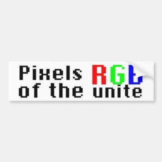 Pixels of the RGB Unite! Car Bumper Sticker