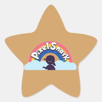 PixelSnark Logo Star Sticker