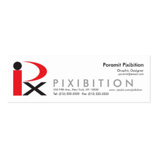 Pixibition Skinny Business Card Template3
