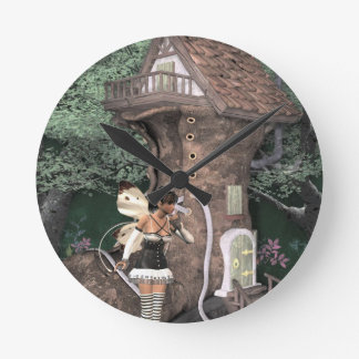 pixie-1 round wall clocks