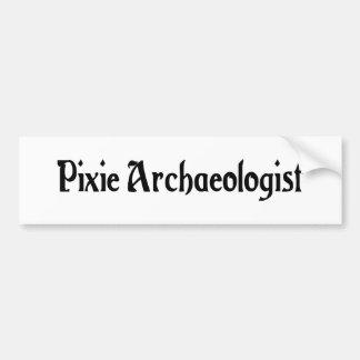 Pixie Archaeologist Bumper Sticker Car Bumper Sticker