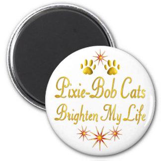 Pixie-Bob Cats Brighten My Life 2 Inch Round Magnet